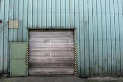 Industrial 1. Facade of an old closed factory Stock Photography