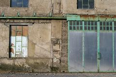 Industrial 2. Facade of old closed factory Stock Photography