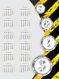 Industrial 2013 calendar design Royalty Free Stock Image