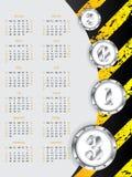 Industrial 2013 calendar design. New industrial calendar design for year 2013 Royalty Free Stock Image