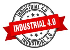 Free Industrial 4.0 Label. Industrial 4.0 Round Band Sign. Royalty Free Stock Photo - 171559585