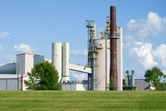 Industrial. Large industrial plant in western Wisconsin Stock Photography