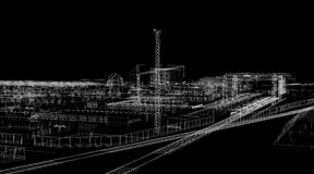 Industrial abstract architecture Stock Image