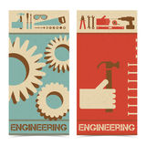 Industrial abstract banners set Royalty Free Stock Photos