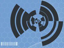 Industrial Abstract Design. A light blue background with industrial/futuristic hexagons in the background Stock Photography