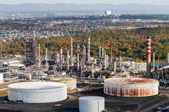 Industrial aerial view Stock Photo