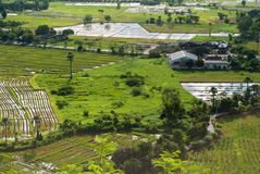Industrial, agricultural encroachment. Top view landscape Royalty Free Stock Images