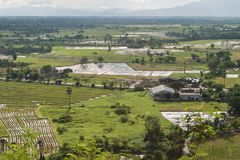 Industrial, agricultural encroachment. Top view landscape Stock Images
