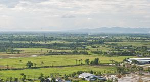 Industrial, agricultural encroachment. Top view landscape Stock Image