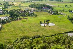 Industrial, agricultural encroachment. Top view landscape Stock Photo