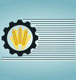 Industrial and agricultural. Icon, gears stock illustration