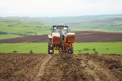 Industrial agriculture on hills Royalty Free Stock Photography