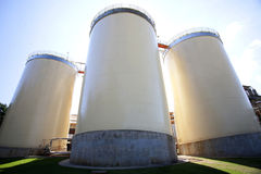 Industrial agriculture silo Royalty Free Stock Photo