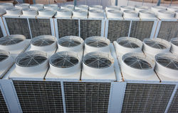 Industrial Air condition system large Stock Photos