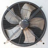 Industrial air conditioner on the roof. Industrial air conditioner outdoor unit with two fans closeup Royalty Free Stock Photos