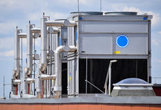 Industrial air conditioners Royalty Free Stock Photos