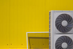 Industrial air conditioning. Fans on outside of building Royalty Free Stock Photography