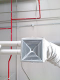 Industrial air conditioning. System and air diffusers Stock Image