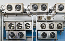 Industrial air conditioning units. Stock Image