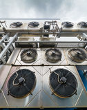 Industrial air conditioning units. Stock Images