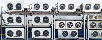 Industrial air conditioning units. Royalty Free Stock Image