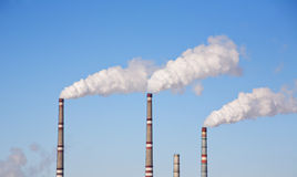 Industrial air pollution Stock Image