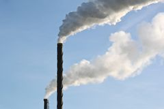 Industrial air pollution Royalty Free Stock Photos
