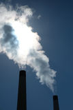 Industrial air pollution Stock Images