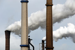 Industrial air pollution Royalty Free Stock Photo