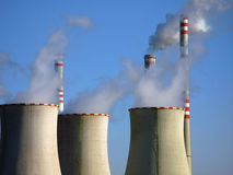 Industrial air pollution Royalty Free Stock Image