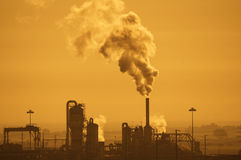Industrial Air Pollution Royalty Free Stock Images