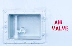 Industrial air valve Royalty Free Stock Photos