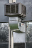 Industrial airconditioning unit. Seen outside small factory unit Royalty Free Stock Photo