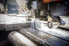 Industrial aluminium and titanium cutting machine. Royalty Free Stock Image