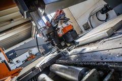 Industrial aluminium and titanium cutting machine. Royalty Free Stock Photo