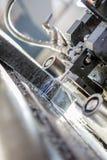 Industrial aluminium and titanium cutting machine. Royalty Free Stock Images