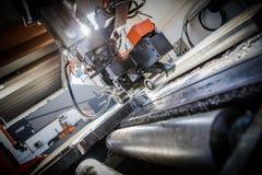 Industrial aluminium and titanium cutting machine. Stock Photo