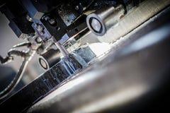 Industrial aluminium and titanium cutting machine. Royalty Free Stock Photos