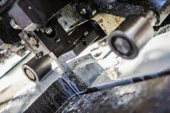 Industrial aluminium and titanium cutting machine. Stock Photography