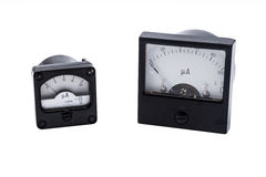 Industrial Analog ammeter Royalty Free Stock Images