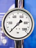 Industrial analog manometer Royalty Free Stock Photos