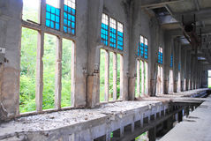 Industrial archeology. Old abandoned factory Royalty Free Stock Image