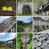 Industrial archeology of extractive mining. The historic abandoned mines of Traversella in Piedmont Royalty Free Stock Photo