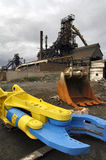 Industrial archeology. A large area in demolition after industrial use with coke Stock Photography