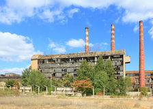 Industrial architecture. Old abandoned factory. Industrial architecture in Myszkow, Poland royalty free stock images