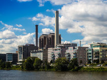 Industrial architecture in Frankfurt, Germany Stock Photo