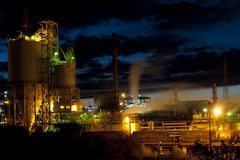 Industrial Architecture at Night Stock Images