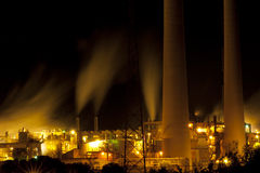 Industrial Architecture at Night Stock Image