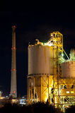 Industrial Architecture at Night Royalty Free Stock Photography