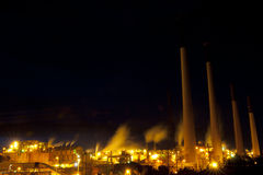 Industrial Architecture at Night Stock Photography